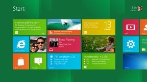 Windows 8 start screen